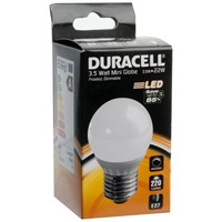 Duracell  LED Frosted Mini Globe Light Bulb - 3.5W ES