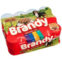 Brandy  Tinned Dog Food Variety Pack - 12 x 395g
