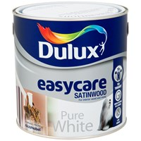 Dulux  Easycare Satinwood Pure White Paint - 2.5 Litre