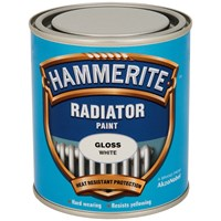 Hammerite  Radiator Enamel Gloss White Paint - 500ml