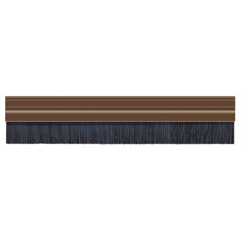 Exitex  Brown Brush Strip PVC Draught Excluder  - 91.4cm