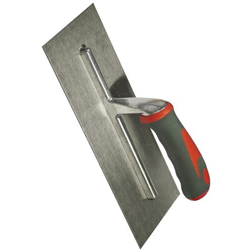 Faithfull  Stainless Steel Plasterers Trowel with Soft Grip Handle