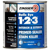 Zinsser  Bulls Eye 1-2-3 Primer Sealer - 1 Litre