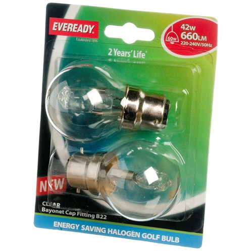 Eveready  Eco Halogen Golf Light Bulb - 42W BC