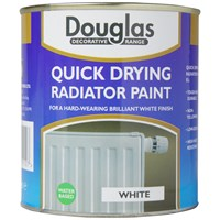 Douglas Decorative Range White Radiator Paint - 250ml
