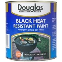 Douglas Decorative Range Black Heat Resistant Paint - 250ml