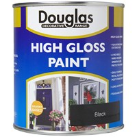 Douglas Decorative Range High Gloss Black Paint - 250ml