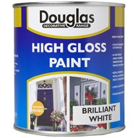 Douglas Decorative Range High Gloss White Paint - 500ml