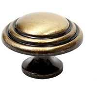 Phoenix  Door Knob Double Indent - Bronze