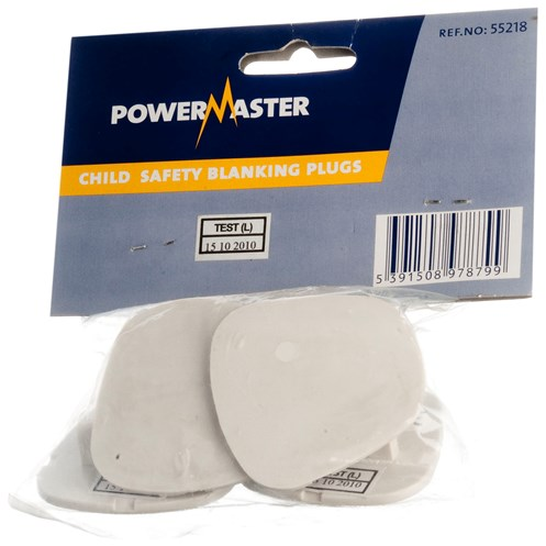 Powermaster  Child Socket Safety Socket Blank - 5 Pack