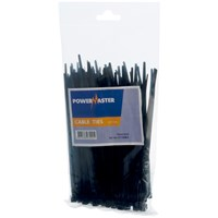Powermaster  Cable Tie Black - 160 x 4.8mm