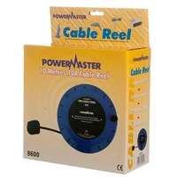 Powermaster  10m Cable Reel Cassette - 10 Amp 3 Gang