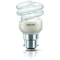 Philips Tornado B22 Energy Saver Spiral Light Bulb - 8W
