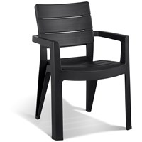 Allibert  Ibiza Resin Chair - Anthracite